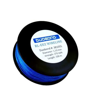 Duobond RL-eez wireline Coil/100 meter nylon cutting wire 1,1mm, 270 daN. Blue